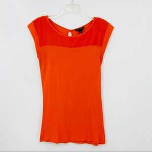 BANANA REPUBLIC Orange Sleeveless Rayon Shirt